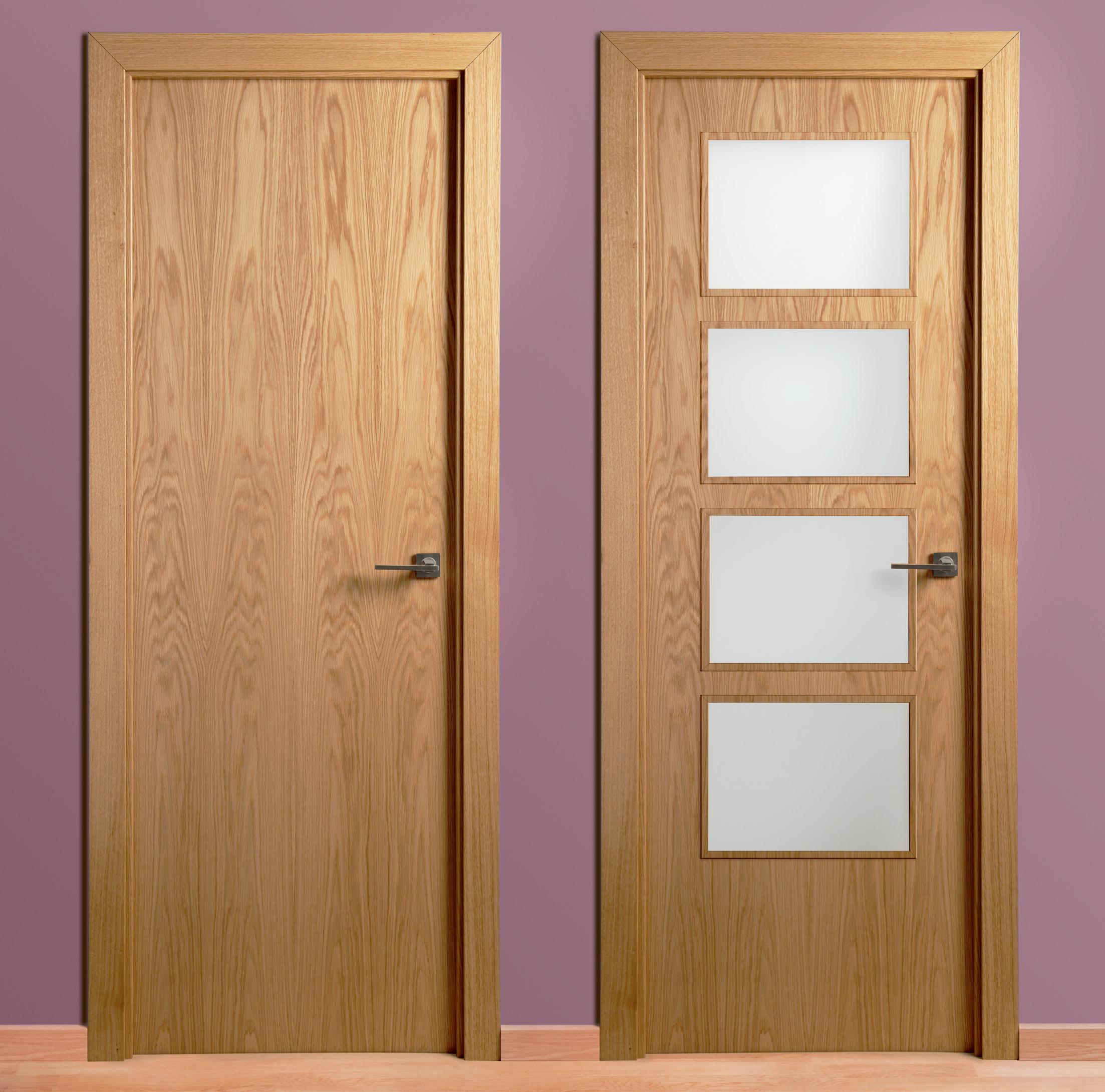 Puertas cocinas anman for Puertas de roble interior